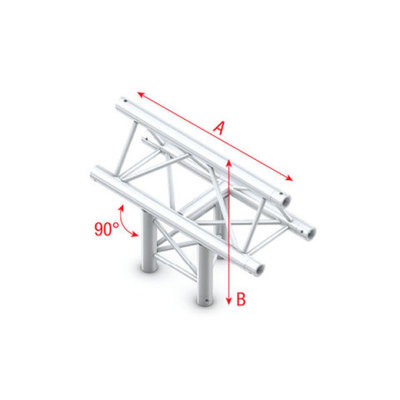 T-Cross ver. 3-way, apex up Pro-30 Triangle P,F,G Truss