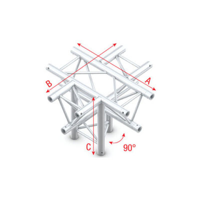 Cross + down 5-way, apex down Pro-30 Triangle P,F,G Truss