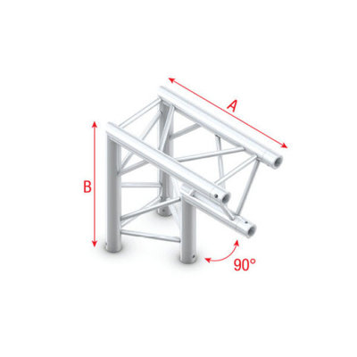Corner 90° apex down Pro-30 Triangle P,F,G Truss