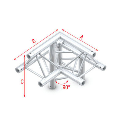 Corner 90° down R apex up Pro-30 Triangle P,F,G Truss