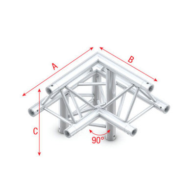 Corner 90° down L apex up Pro-30 Triangle P,F,G Truss