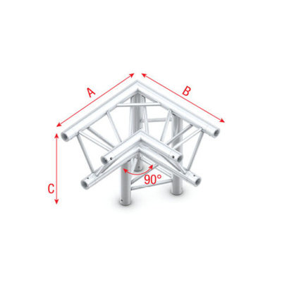 Corner 90° down R apex down Pro-30 Triangle P,F,G Truss