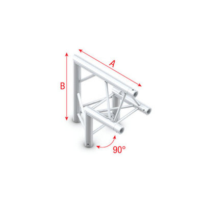 Corner 90° apex up Pro-30 Triangle P,F,G Truss
