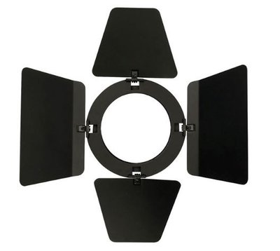 Showtec Barndoor for LED Compact Studio Beam Zwart