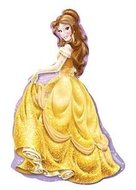 Prinses Belle XL Folie Ballon 99cm