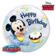 Baby Mickey Mouse 1e verjaardag Bubble Folie Ballon 55cm