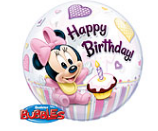Baby Minnie Mouse 1e Verjaardag Bubble Folie Ballon 55cm