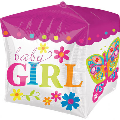 Beautiful Baby Girl Cubez Folie Ballon 38cm