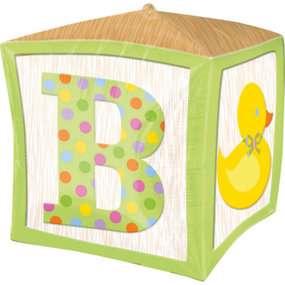 Baby Blokken Cubez Folie Ballon 38cm