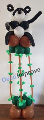 Pandabeer op Bamboe Ballonnenpilaar