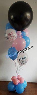 Gender Reveal Helium Tros Ballonnen Boeket