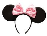 Minnie Mouse Oren met Roze Strik Diadeem