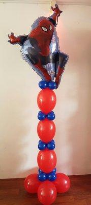 Spiderman Helium Ballonnenpilaar