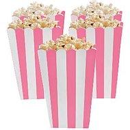 Roze Strepen Popcorn Bak 5st