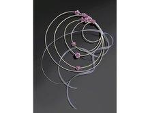 Roze Spiraal met Rozen Decoratie 4st