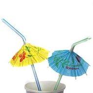 Luau Cocktail Rietjes met Parasol 25st