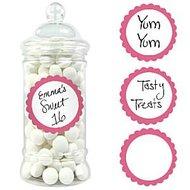 Zoete Labels Roze 20st