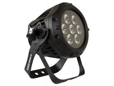 BRITEQ MINI BEAMER RGB - OUTDOOR 7X3Watt RGB LED par/spot 16° IP66 connections