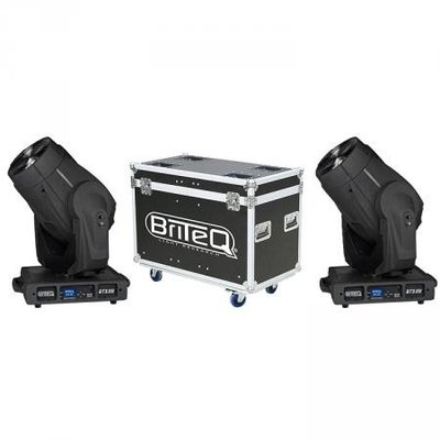 BRITEQ BTX-300 BEAM moving head rental set 2 stuks incl flight case