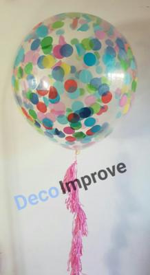 Cloudbuster met Confetti Helium Ballon