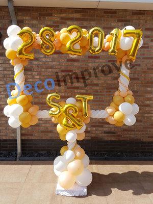 Luxe Gouden Fotoframe met Tekst Ballondecoratie