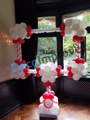 Liefdevol Rood Luxe Foto Frame Ballondecoratie