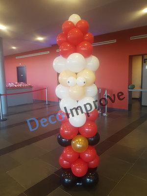 Kerstman Ballonnenpilaar