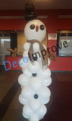 Sneeuwpop Ballonnenpilaar