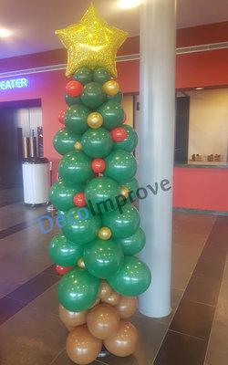 Kerstboom Ballonnenpilaar