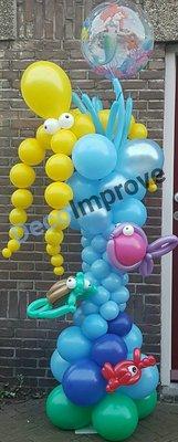 Diepzee Onderwater Ballonnenpilaar