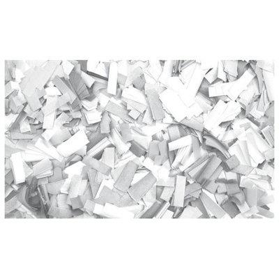 Showtec Show Confetti Rechthoek 55 x 17mm Wit, 1 kg Vuurvast