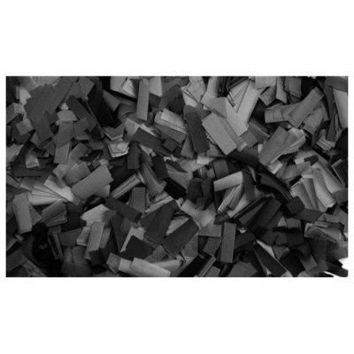 Showtec Show Confetti Rechthoek  55 x 17mm Zwart Vuurvast 1Kg