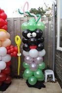 Ballonnenpilaar Zwarte Piet 180cm