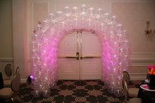 Ballonnenboog Tunnel met LEDverlichting Clusters van 4