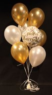 Just Married Tros Helium Ballonnen Boeket