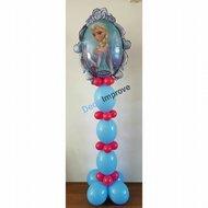 Frozen Blauw Anna en Elsa Helium Ballonnenpilaar