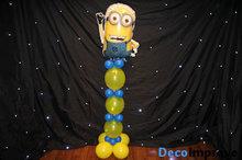 Minions Helium Ballonnenpilaar