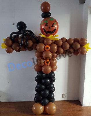 Vogelverschrikker Jack-O-Lantern Ballonnenpilaar Ballondecoratie