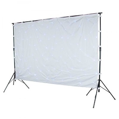 Stardrape White LED WhiteCloth 3x6m inc controller & bag led sterrendoek