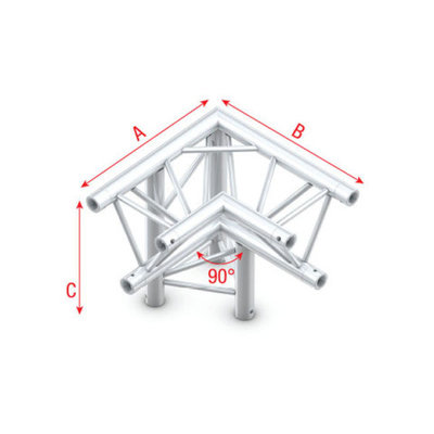 Corner 90° down L apex down Pro-30 Triangle P,F,G Truss