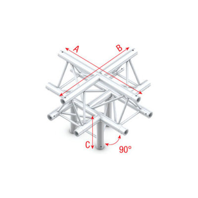 Cross + down 5-way, apex up Pro-30 Triangle P,F,G Truss
