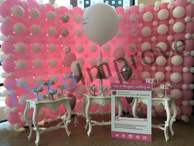 Baby Roze Ballonnenwand