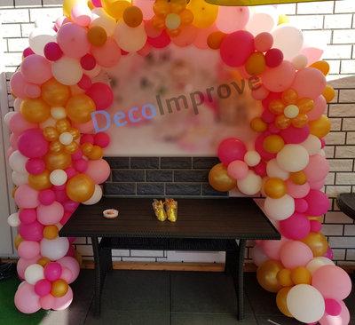 Ballonnenboog Pretty in Pink Organic Enkeldeurs