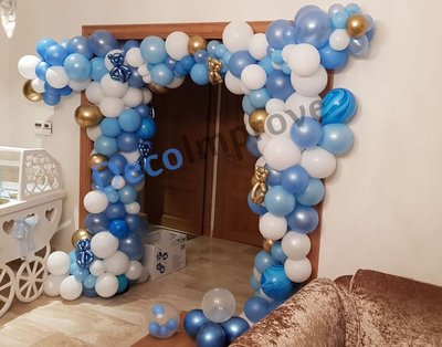 Ballonnenboog Wolkenbaby Blauw Organic