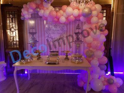 Organic Precious Pink Driekwart Ballonnenboog