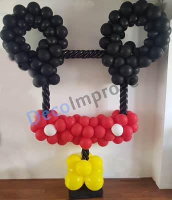 Mickey Mouse Foto Frame Ballondecoratie 100x100cm