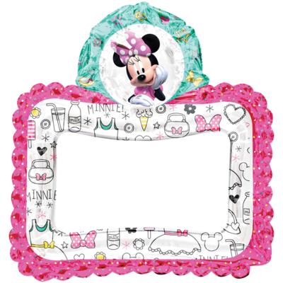 Minnie Mouse Handige Hulpjes Selfie Fotoframe Folieballon