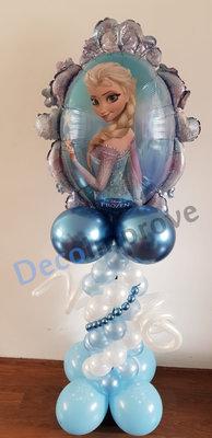 Frozen Anna en Elza Mini Ballonnenpilaar