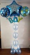 Blauw Sterren 'It's A Boy' Helium Ballonnenpilaar