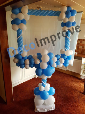 Luxe Foto Frame Ballondecoratie 100x100cm
